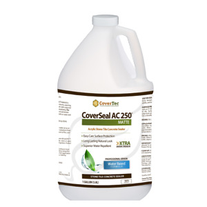 Coverseal Ac250 Matte Stone Tile Concrete Sealer Water Based Clear 1 Gal