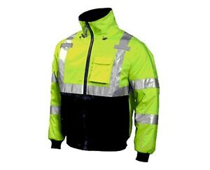 Tingley Premium Ansi Compliant High Visibility Insulated Jacket Sizes S 3xl