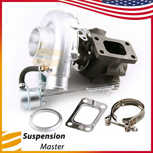 Fit T3 T4 T04e Universal Turbo Charger 420hp Turbine 0 63 A R 4 Bolts Flange