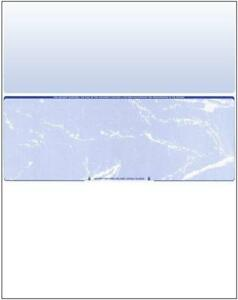 1000 Blank Check Stock Paper Check In Middle Blue With Marble Design