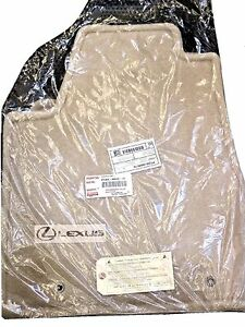 Lexus Oem Factory Floor Mat Set 2004 2006 Rx330 And 2007 2009 Rx350 Ivory tan
