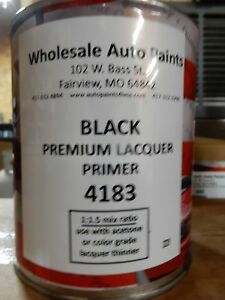 High Build Premium Acrylic Lacquer Primer Black Quart Fast Dry Easy Sanding 1k