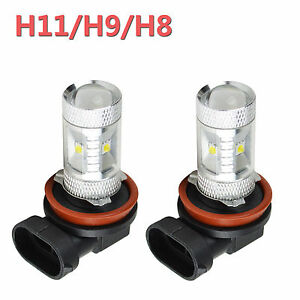 Innovited 2pc Cree H11 H9 H8 Led Bulb Fog Drl Daytime Running Light Pure White