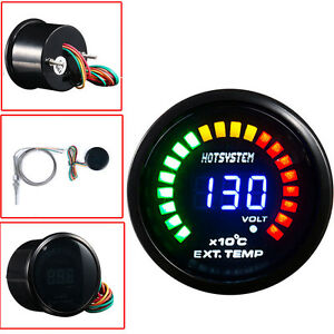 Hs 2 52mm Digital 20 Led Electronic Exhaust Gas Temperature Gauge For Car Motor