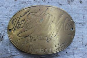 Ford the Edmunds Jones Mfg Co Model 366 Detroit Tag Good Condition