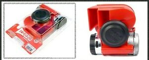 Stebel Nautilus Compact 12volt Car 4x4 Motorcycle Air Horn Red 139db gpntc 12r