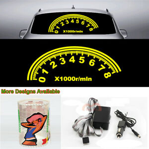 Speedometer Music Rhythm Car Sticker Flash Light Sound Activated Equalizer 80 30