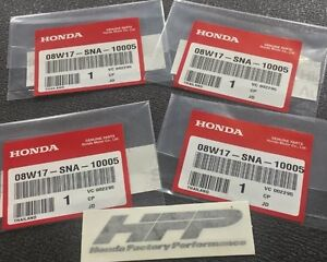 4 Honda Factory Performance Hfp Decals 3 5x1 Stickers Wheels Civic Accord Oem