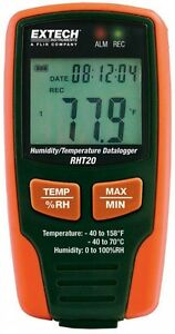 Humidity Temperature Data Logger With Lcd Usb Interface Manual Control In Orange