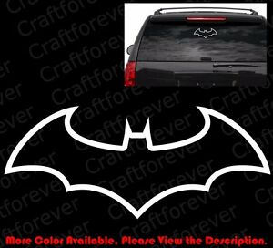 Outline Only Batman Dark Knight Car Window bumper Die Cut Vinyl Decal Cm017