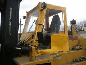 25 A r Acrylic Forklift Tractor Cab W Wiper For Cat Yale Hyster Toyota Komatsu