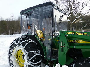 John Deere Snow Tractor Cab 25 Hard Acrylic Front With Electric Wiper