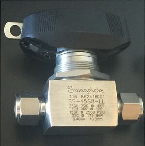 Swagelok Ss 45s8 ll Ball Valve 2500 Psig Tube Fitting