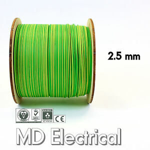 2 5 Mm Single Core Conduit Cable 6491x Earth Yellow Green Supplementary Bonding