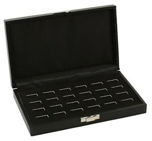 1 New 24 Ring Wooden Jewelry Tray Ring Holder Box Case Display Case Storage