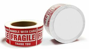 1 20 Rolls 3 X 5 Fragile Stickers Handle With Care Labels 500 roll Free Shipping