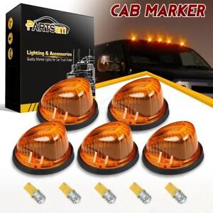 5 For 73 87 Chevy C K Amber 1313a Cab Clearance Marker Light 3528 T10 Amber Led