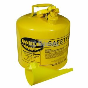 Eagle 5 Gallon With Funnel Aftermarket Metal Safety Fuel Can Stens 765 200
