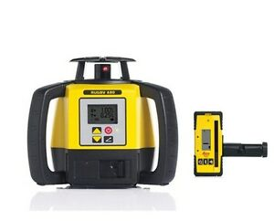 Leica Rugby 680 Dual Grade Laser Level 6006007 Tripod And 16ft Grade Rod Inches