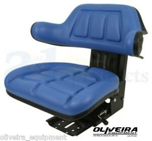 Blue Tractor Suspension Seat Ford new Holland Wrap Around Back With Arms