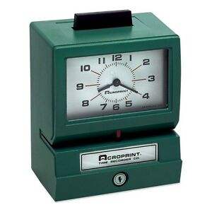 Acroprint Manual Time Recorder Acp011070400