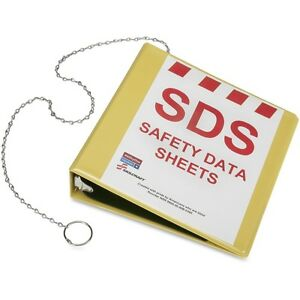 Skilcraft Ghs Safety Data Sheet Binder Without Wire Rack Nsn6236240