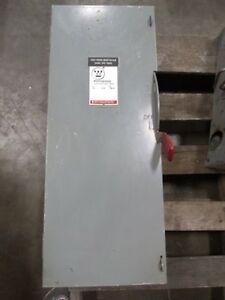 Westinghouse 100 Amp Fusible Heavy Duty Safety Switch Cat Hfn323