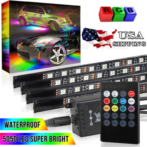 New Mutli Color Under Glow Underbody System Zone Neon Led Strips Light Us Stock