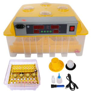 56 Egg Incubator Hatcher Temperature Control Automatic Egg Turner With Peep Hole