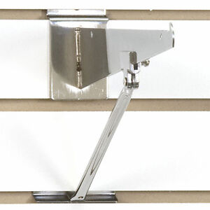 Set Of 8 New Retail Slatwall Chrome Bracket Support 10 12