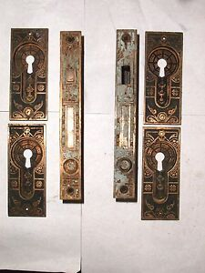 Antique Eastlake Corbin Double Pocket Door Hardware Set