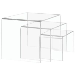 Clear Square Acrylic Catering Risers 85474