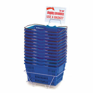 Royal Blue Plastic Shopping Baskets 47198