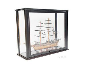 Display Case Wood Cabinet With Plexiglass 36 Boats Tall Ships Yacht Models