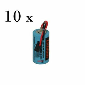 Lot Of 10 X Q6bat Cr17335se mc Battery Replacement For Mitsubishi Plc s