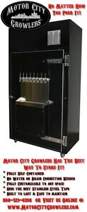 Craft Beer Refrigerator Keg Tap Dispensing Station Draft Growler Filling Cooler