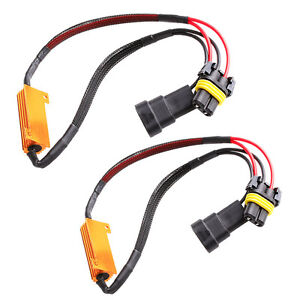 2x 9005 9006 50w Led Error Free Canbus Fog Load Resistors Wiring Harness Decoder