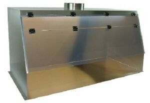 Cleatech Stainless Steel 60 Ducted Fume Hood W Worksurface