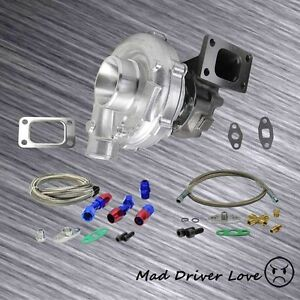 Universal Turbo Charger T3 t4 To4e 63 A r oil Feed Return 350 hp Civic Integra