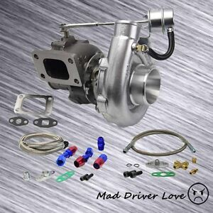 T3 T4 63a R Turbo Charger V Band Dp 8psi Internal Wastegate Oil Feed Return