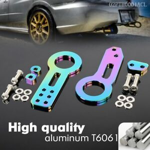 Billet Aluminum Racing Front Rear Tow Hook Kit Cnc Jdm Anodized For Civic