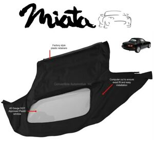 Mazda Miata Convertible Soft Top Plastic Window 1990 2005 Black Cabrio