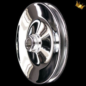 Chrome 1 Groove Gm Keyway Power Steering Pulley For Small And Big Block Chevy