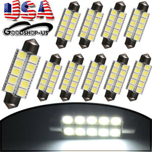 20x White T10 5050 5smd Led Dome Map Light Clear Wedge Bulb W5w 194 192 168 2825