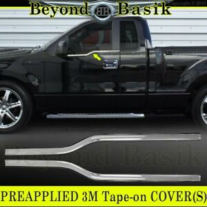 2004-2008 Ford F150 GLOSS BLACK Door Handle Covers w//KP no PH+Mirrors+Tailgate