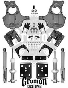 Lowering Kit Chevy Gmc 2016 2018 Silverado Sierra 3 5 4 6 Mcgaughys Stamped Arm
