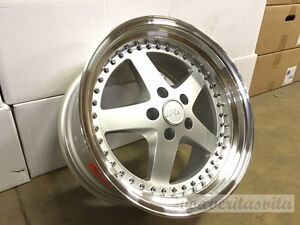 18 Staggered Silver Wheels Rims Equip 015 Style Fits Bmw 323 325 328i 330 335i
