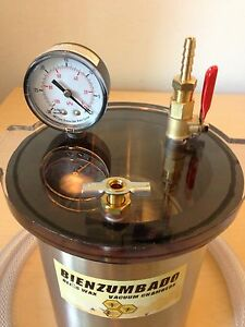 Vacuum Chamber 2qt Capacity Stainless Steel And Polycarbonate Degassing Silicone