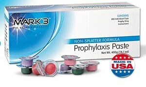 8 Boxes Dental Prophy Paste 1600 Cups Prophylaxis Non Splatter Mark3