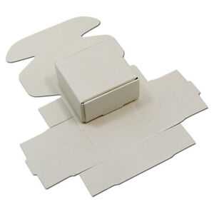White Kraft Paper Packaging Small Box Gift Wedding Favors Jewelry Candy Pack